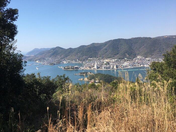 大弥山頂上からの景色