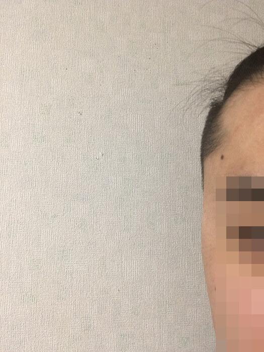 セルフカット後の髪