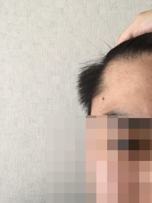 セルフカット前の髪