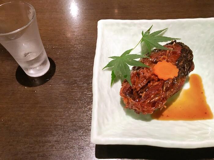 鯉の甘煮と地酒